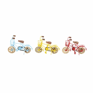Prolific Metal Bicycle, Assorted In 3 - 27356 by Benzara