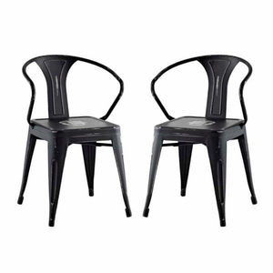 Promenade Set of 2 Dining Chair, Black