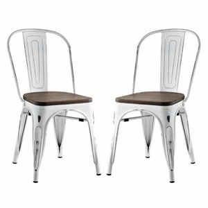 Promenade Set of 2 Dining Side Chair , White