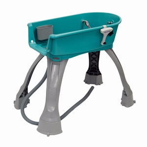"PSUSA Booster Bath Elevated Pet Bathing Medium Teal 33"" x 16.75"" x 10"""