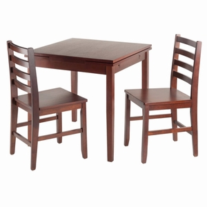Pulman 3-Pc Set Extension Table w/ 2 Ladder Back Chairs - 94367 by Winsome Wood
