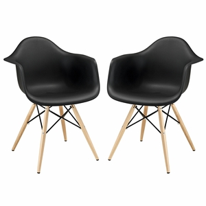 Pyramid Dining Armchair Set of 2 Black