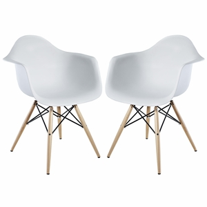 Pyramid Dining Armchair Set of 2 White