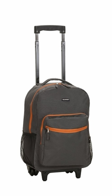 """R01-CHARCOAL 17"""" Rolling Backpack"""