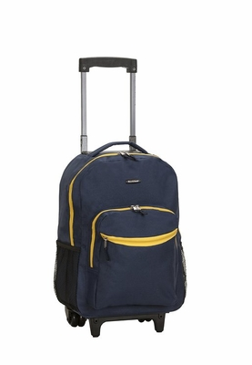 "R01-NAVY 17"" Rolling Backpack"
