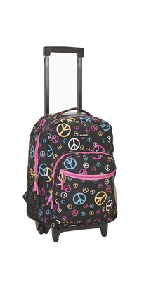 "R01-PEACE 17"" Rolling Backpack"