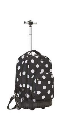 Fox Luggage R02-BLACKDOT Rolling Backpack 19""