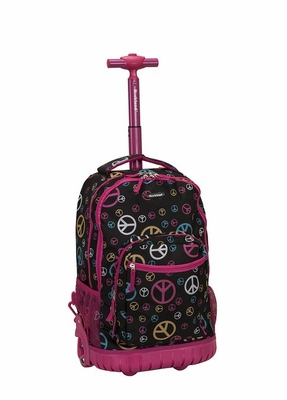 "R02-PEACE 19"" Rolling Backpack"