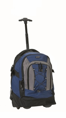 """R03-NAVY 19"""" Rolling Backpack"""