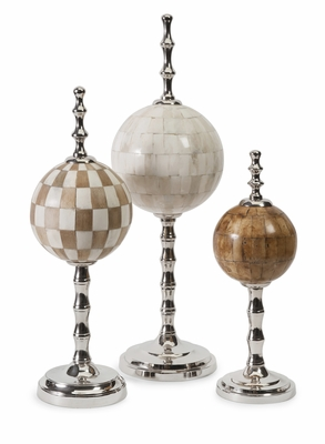 Randolph Bone Finials - Set of 3