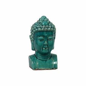 Rare and Unique with Soothing Blue Color Buddha Bust