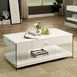 Raya Coffee Table Contemporary Style, White