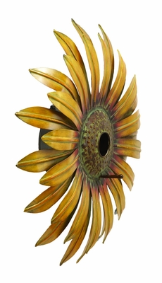 Realistic And Captivating Sunflower Bird House - 63802 by Benzara