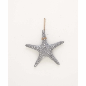 Realistic Shaped Rope Starfish In Gray, Polystone - 98857 by Benzara