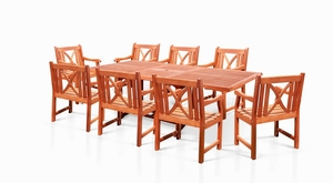 Rectangular Extension Table & Wood Arm ChairOutdoor Dining Set 17