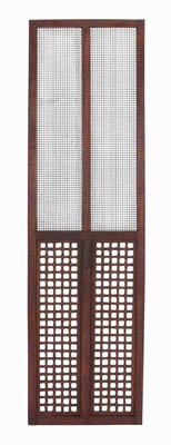 Rectangular Wooden and Metal Wall Panel with Elegantly Designed  by Benzara