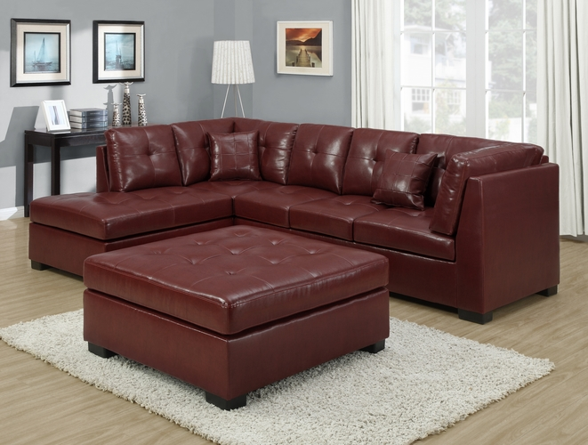 Monarch specialties inc mhs i 8360rd red bonded leather for Wild orchid furniture