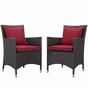 Red Convene 2 Piece Outdoor Patio Dining Set