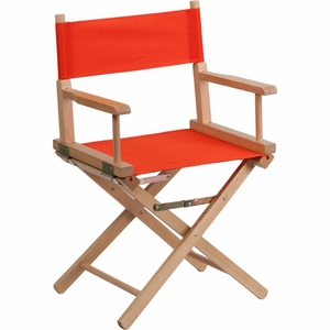 Red Directors Chair Red - TYD02-RD-GG by Flash Furniture