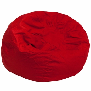 Red Fabric Kids Bean Bag Red - DG-BEAN-LARGE-SOLID-RED-GG by Flash Furniture