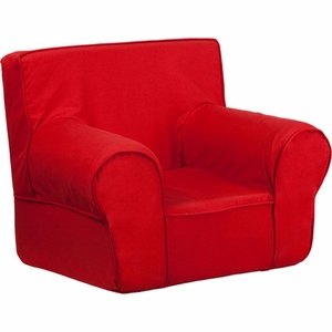 Red Fabric Kids' Chair Red - DG-CH-KID-SOLID-RED-GG by Flash Furniture