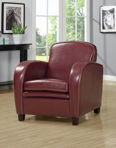 Monarch specialties inc mhs i 8039 red leather look accent for Wild orchid furniture