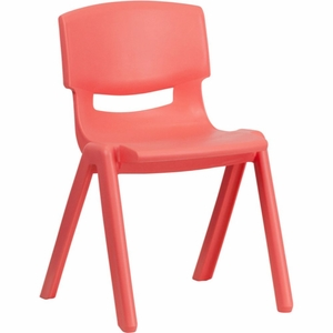 Red Plastic Stack Chair Red - YU-YCX-004-RED-GG by Flash Furniture
