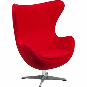 Red Wool Fabric Egg Chair Red - ZB-14-GG by Flash Furniture