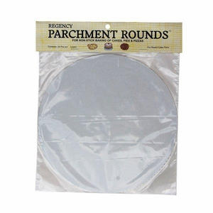 Regency Wraps RW1110 Round Parchment Paper, 10-Inch, White, Set of 24
