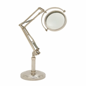 Remarkable Aluminum Glass Magnifier - 24544 by Benzara