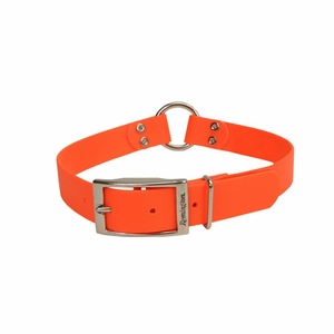 Remington Waterproof Hound Dog Collar with Center Ring Orange 20x 1x 0.2 Inch