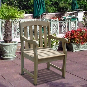 Renaissance Acacia Slatted Back and Seat Outdoor Armchair by Vifah