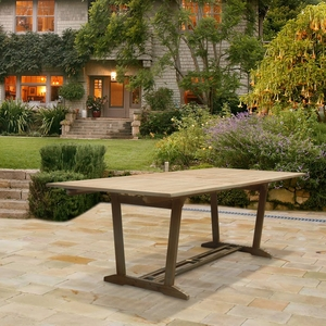 Renaissance Eco-friendly Outdoor Hardwood Rectangular Extention Garden Table