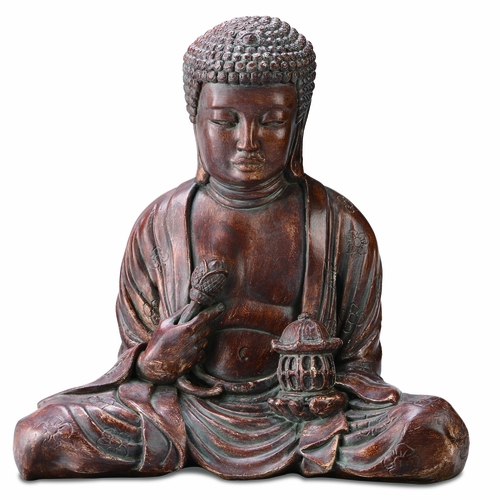 Buy Antique Handcrafted Buddha Lantern For Corporate: Buy Resin Garden Buddha Statue Holding Lantern And Lotus