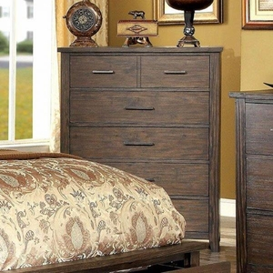 Ribeira Transitional Style Chest, Dark Walnut Finish