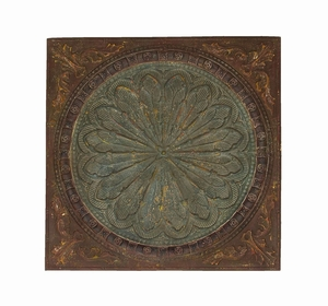 Artist wall decor With Byzantine Floral Design - 69246 by Benzara