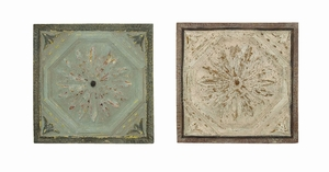 Artist wall decor With Roman Hand Etched Floral Design - 69248 by Benzara