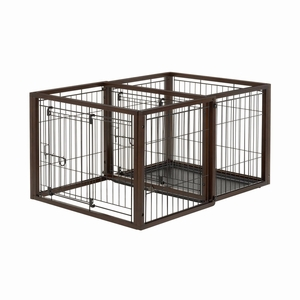 """Richell Flip To Play Pet Crate Small Brown 31.9"""" x 23.4"""" x 24.4"""
