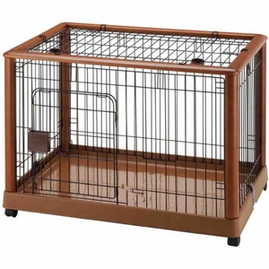 Richell Mobile Pet Pen 940 Medium Autumn Matte 36.8x 24.2x 26 Inch