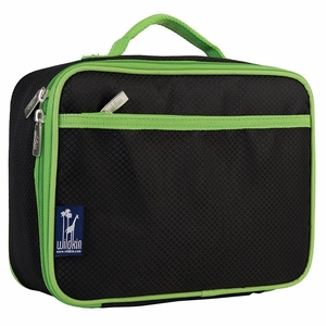 Rip-Stop Black & Green Lunch Box