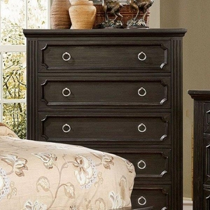 Roisin Transitional Style Chest With Loop Knob, Black