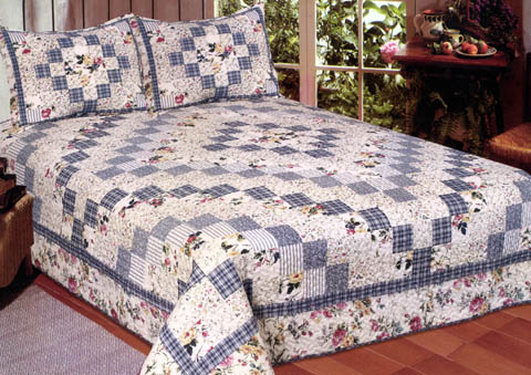 Buy Romantic Garden 100% Cotton Filled Quilt for King Size Bed by ... : cotton filled quilt - Adamdwight.com