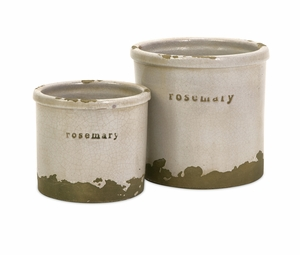Rosemary Herb Pots - Set of 2