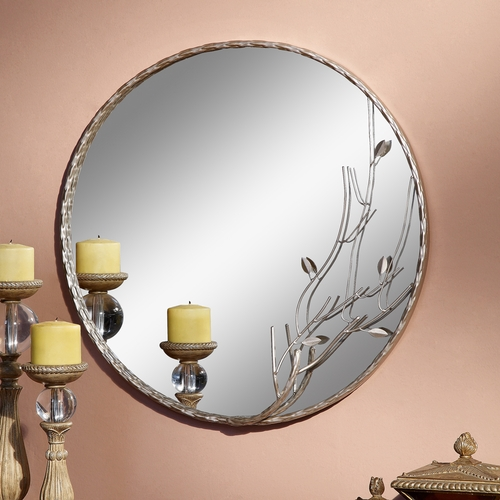 Round Shaped Wall Decor : Buy round shaped decorative wall mirror embellished with