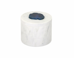 Royal Verena Marble Box with Agate Stone