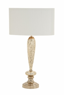 Rustic and Timeless Glass Metal Table Lamp - 40191 by Benzara
