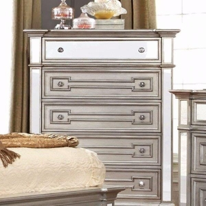 Salamanca Contemporary Style Chest With Drawers, Silver