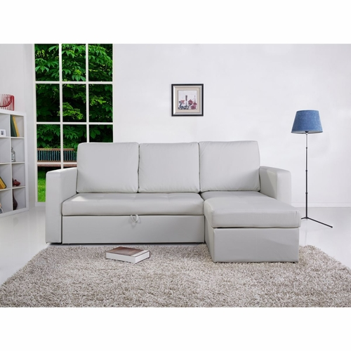Buy saleen bi cast leather 2 pieces sectional sofa bed for White divan bed with storage