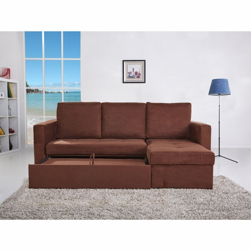 Buy saleen microsuede 2 pieces sectional sofa bed with for Wild orchid furniture
