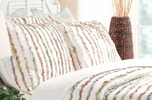 Greenland Home Fashions San Marino Bella Ruffle Multi Color King Sham